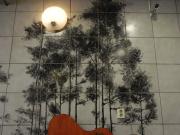 satellite, moon, trees, lighting, mountains